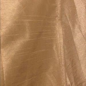 Cost Plus World Market Accents - Set of 3 drapes / curtains tan/gold color NEWISH